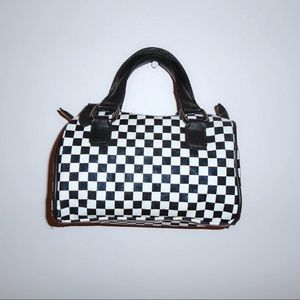 mini checkered bag